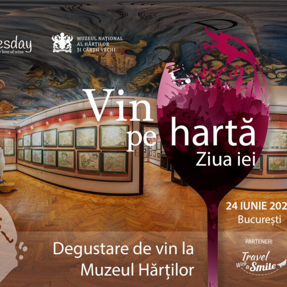 Vin pe hartă. Degustare de vin la Muzeul Hărților